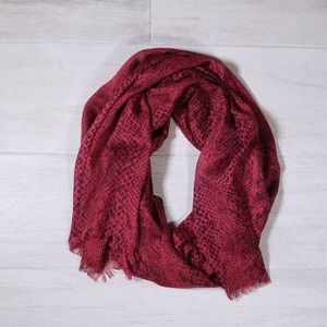 Calvin Klein Pink Scarf with Print